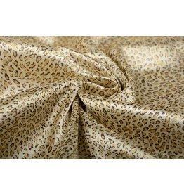 Polyester-Satin Pantherdruck Gold