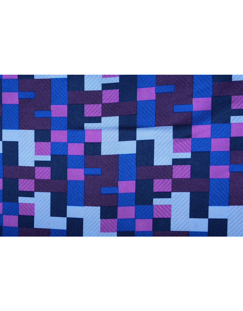 Polyester-Satin Ifomu Blau Lila