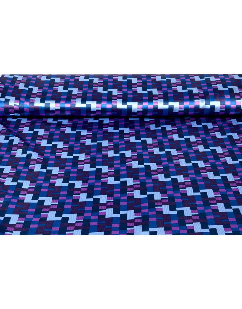 Poly Satijn Ifomu Blauw Paars