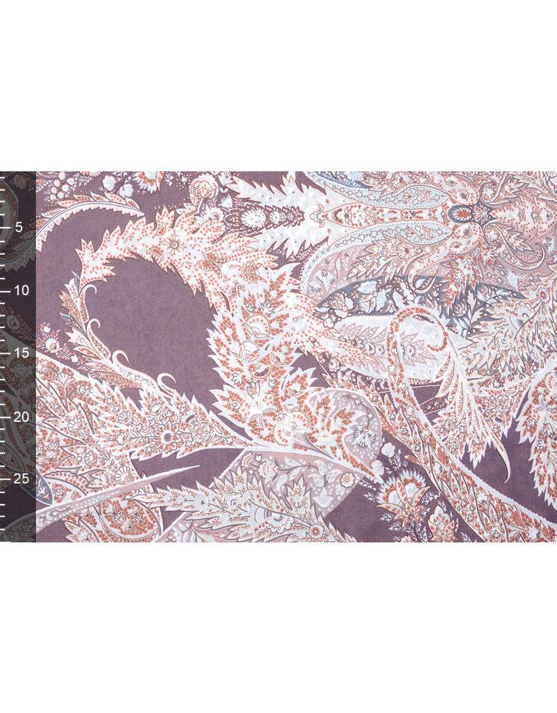 Polyester-Satin Ishidi Altviolett