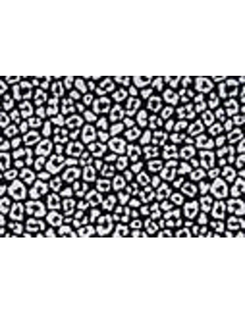 Stenzo 100% Baumwolle Pantherdruck Schwarz
