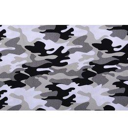Poplin Camouflage Grey