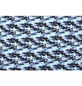 Popeline Camouflage Navy