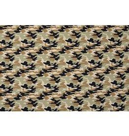 Popeline Camouflage Armeegrün