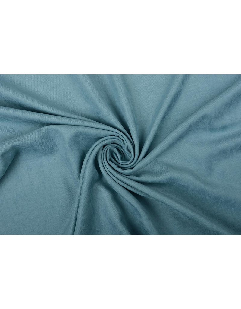 Cupro Suedine Jeans Blauw