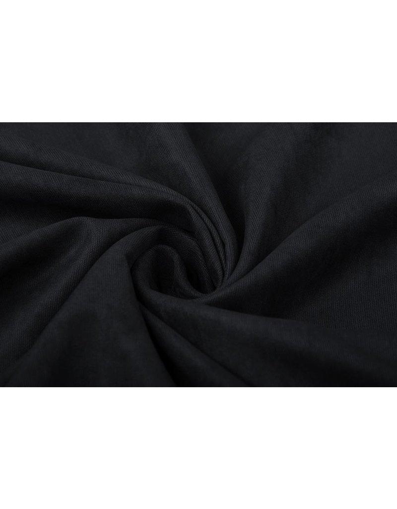 Cupro Suedine  Zwart