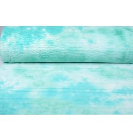 Kort Harige Bont Multi Color Mint Groen