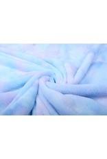 Kort Harige Bont Multi Color Blauw Paars