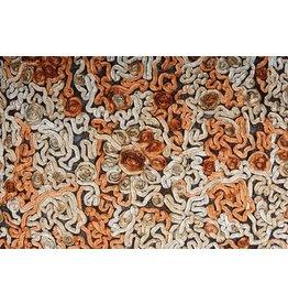 Netz Blume Farbband Orange Beige