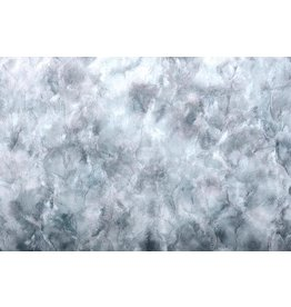 Tie-Dye Pelz Grau Blau