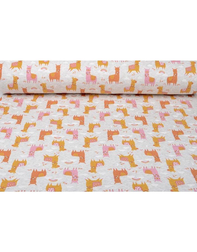 Jogging Alpenfleece Alpaca Oranje Oker Roze