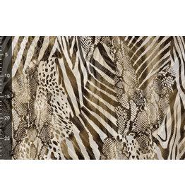 Mesh Brown/Beige Animalprint