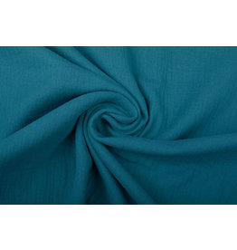 Oeko-Tex®  Double Gauze Fabric Petrol