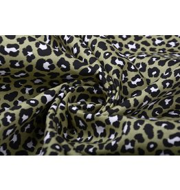 100% Cotton Panther Print Army Green