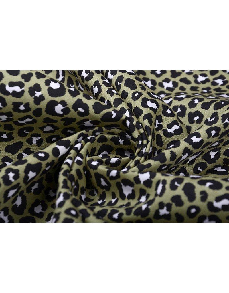 Stenzo 100% Baumwolle Pantherdruck Armeegrün
