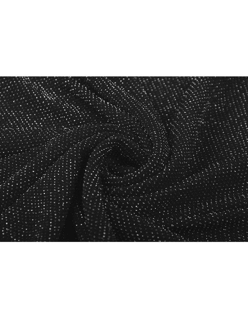 Jersey Lurex Zwart Glitter