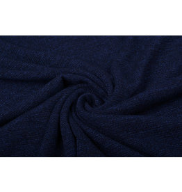 Jersey Lurex Dark Blue Glitter