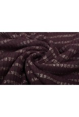 Jersey Lurex Bordeaux