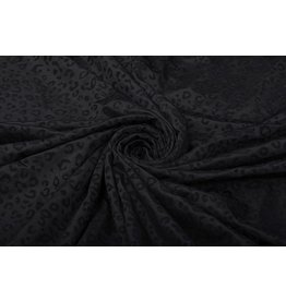 Viscose Jersey Zwart Panterprint