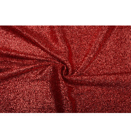 Knitted Glitter Metallic Red