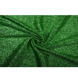 Knitted Glitter Metallic Grass Green