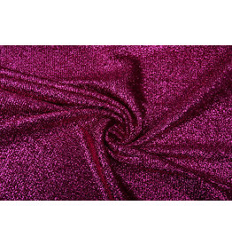 Knitted Glitter Metallic Fuchsia