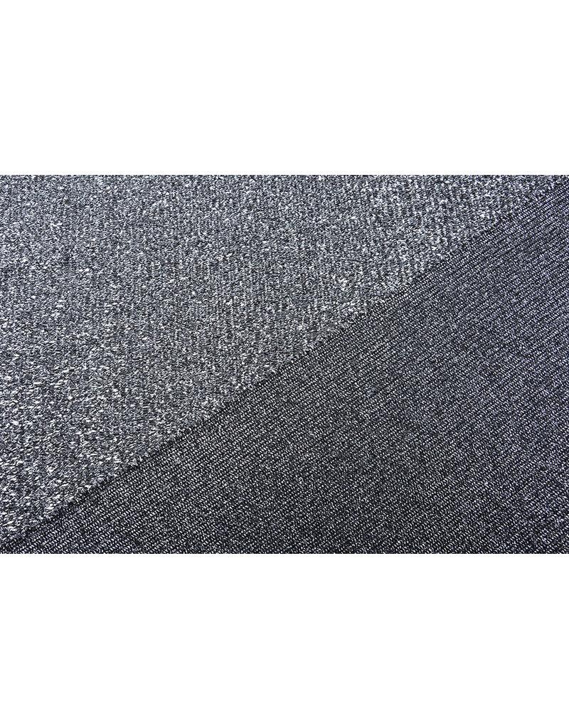 Knitted Glitter Metallic Zilvergrijs