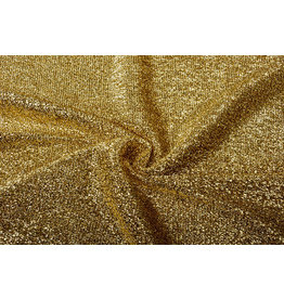 Knitted Glitter Metallic Gold