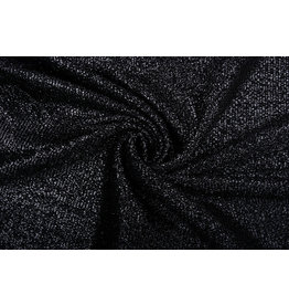Knitted Glitter Metallic Black