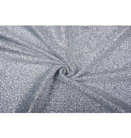 Gestricktes Glitzer Metallic Silber