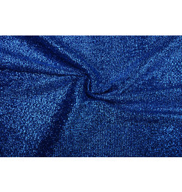 Knitted Glitter Metallic Cobalt Blue