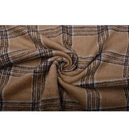 Woven Woolen Fabric Tartan Sand