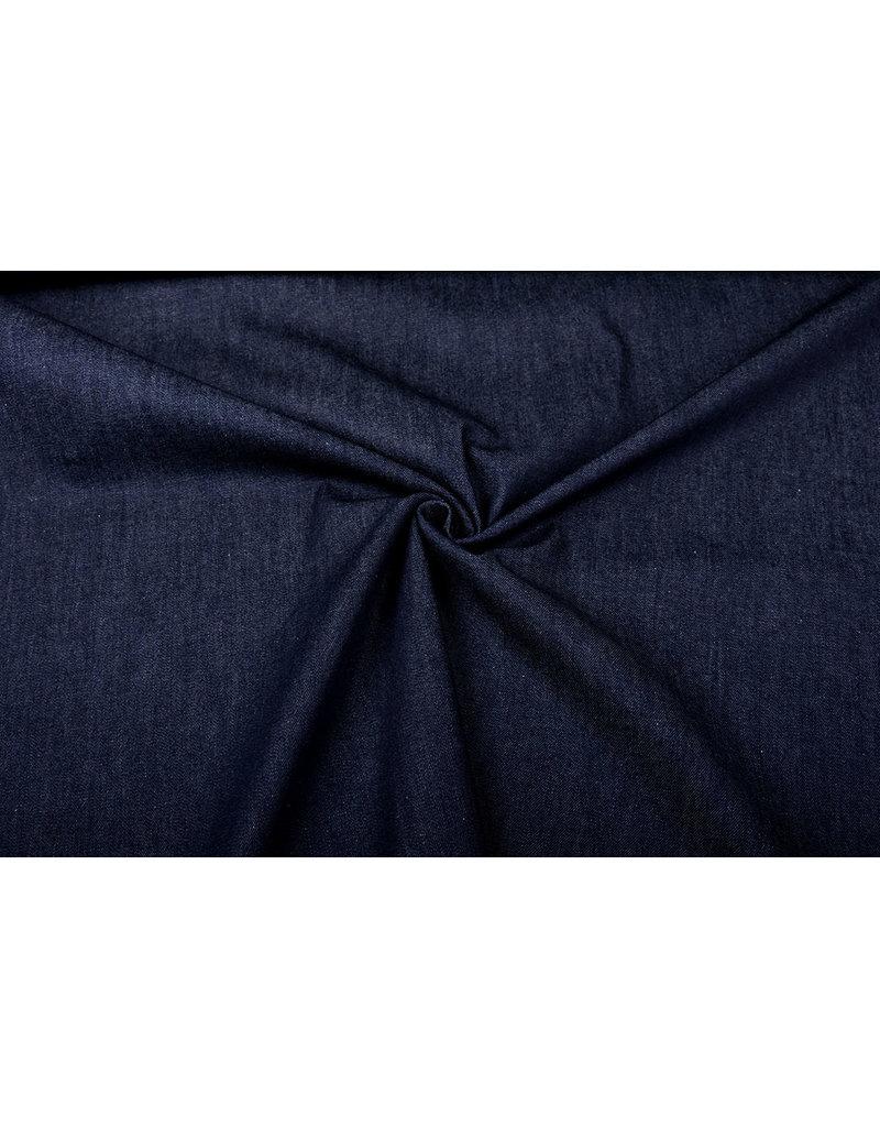 Jacquard Geweven Katoen Donker Jeans