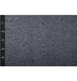 Jacquard Gewebte Baumwolle Grau Jeans