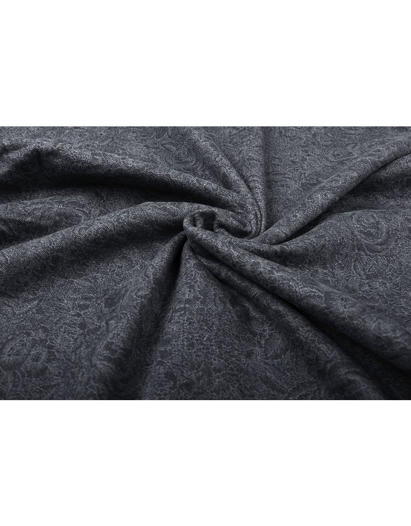 Jacquard Geweven Katoen Grijs Jeans