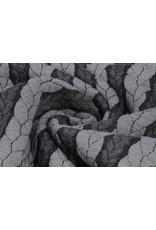 Gestrickte Kabel Stoff Jersey Grau Dunkelgrau