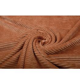 Baumwolle Trikot Cordstoff Breit Orange  Brique