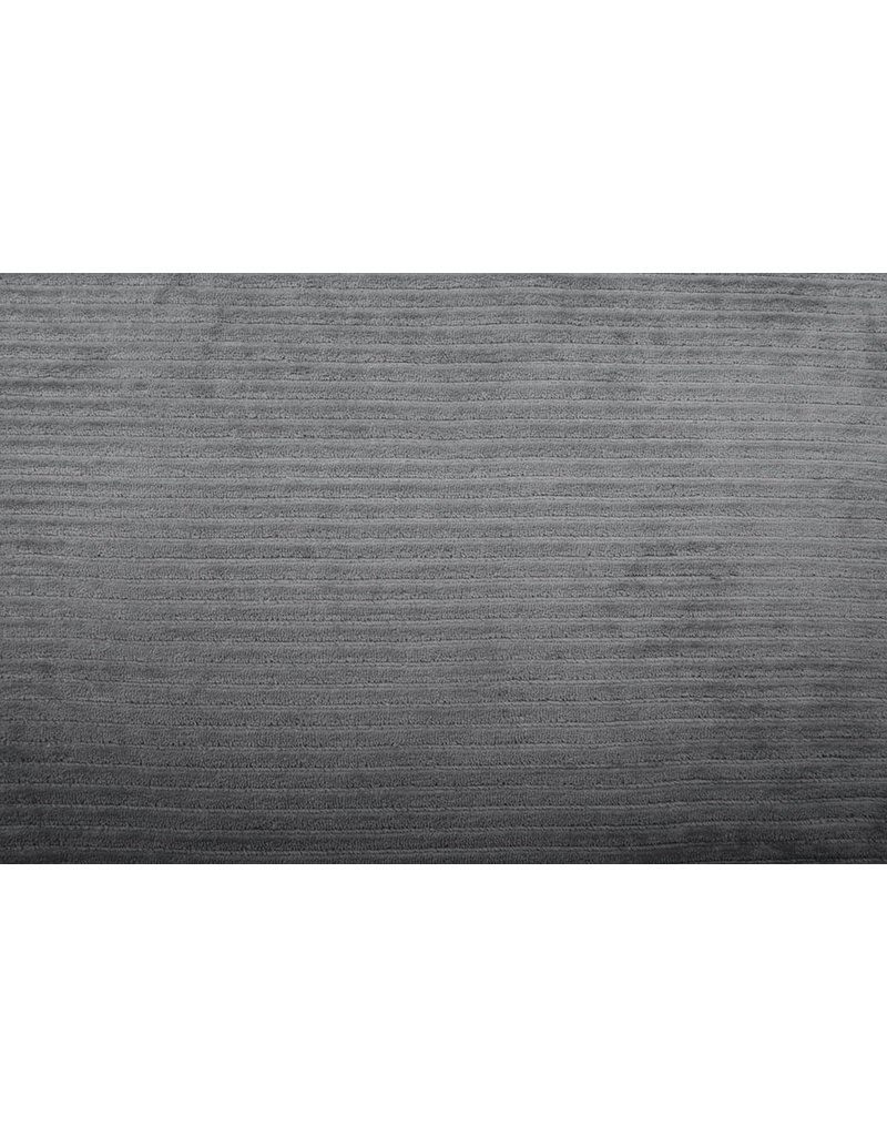 Baumwolle Trikot Cordstoff Breit Grau Taupe