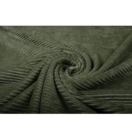 Cotton Corduroy Large Rib Army Green