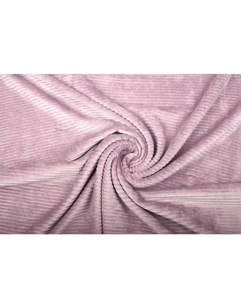 Baumwolle Trikot Cordstoff Breit Altes Rosa