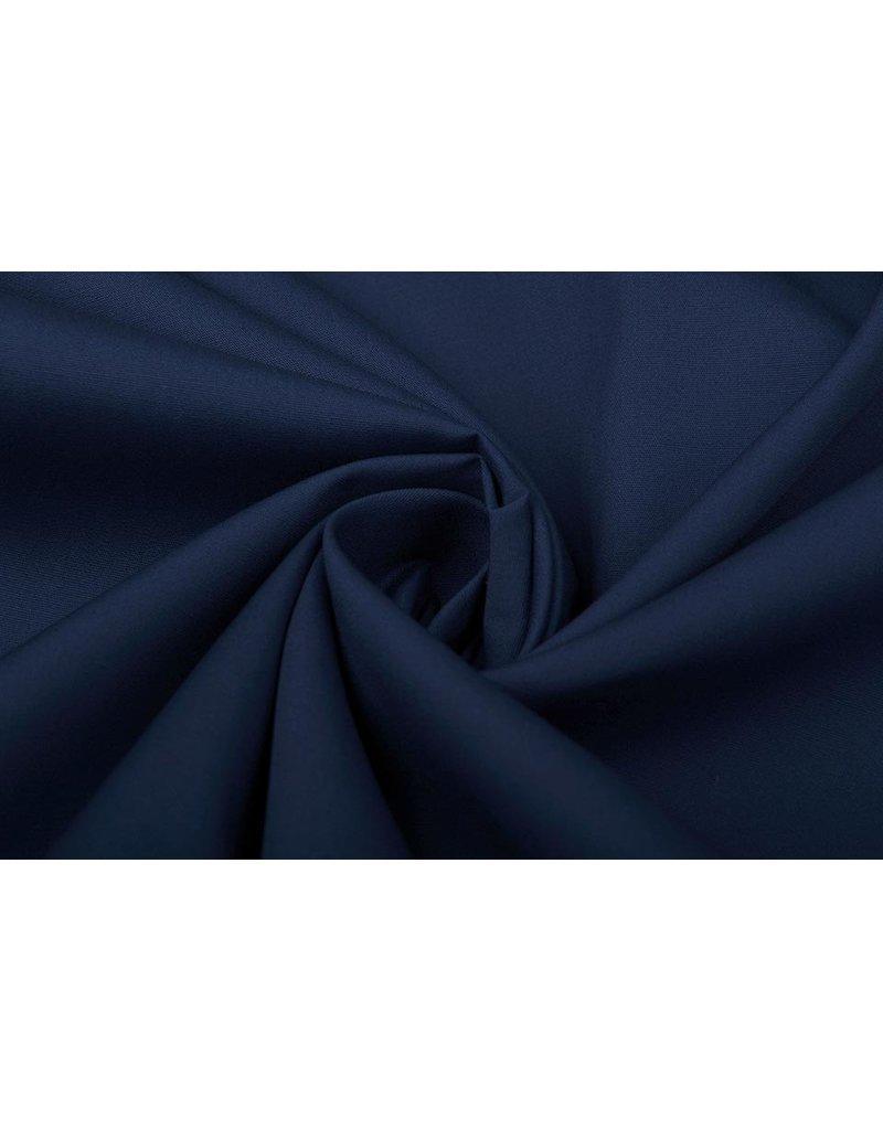 100% Popeline Marineblau