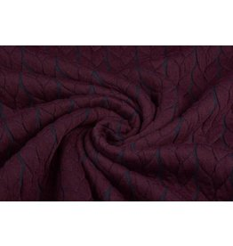 Multi Color Knitted Cable fabric tricot Bordeaux