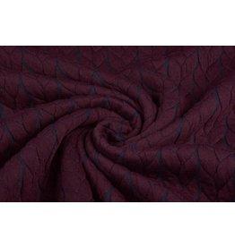 Multicolor Strickstoff Zopfmuster Jersey Bordeaux