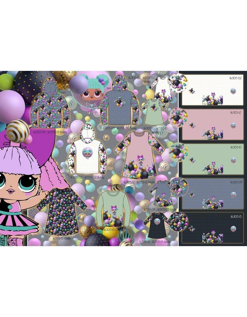 Stenzo Digital Panel Party Girl French Terry Alt-Minzgrün