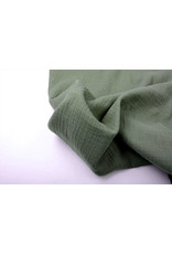 Oeko-Tex®  Baumwoll Musselin Armeegrün