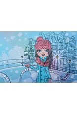 Stenzo Digitaal Paneel Stad Meisje French Terry