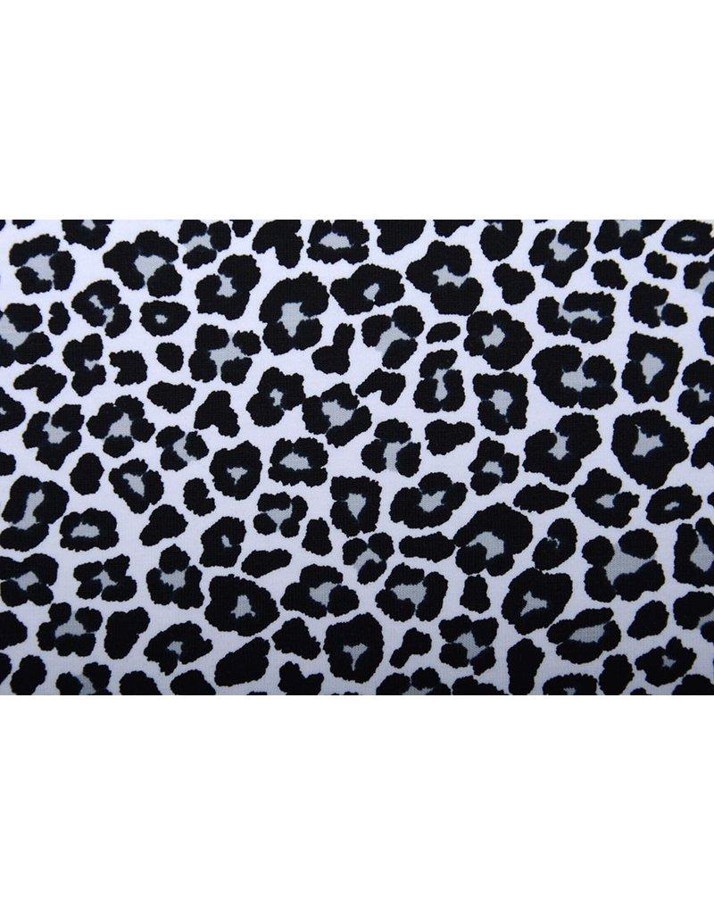Stenzo Cotton Jersey Panterprint Wit Grijs