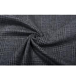 Stretch Cotton Pied de Poule Grey