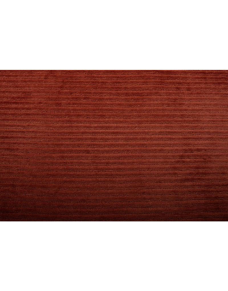 Baumwolle Trikot Cordstoff Breit Rust Brique