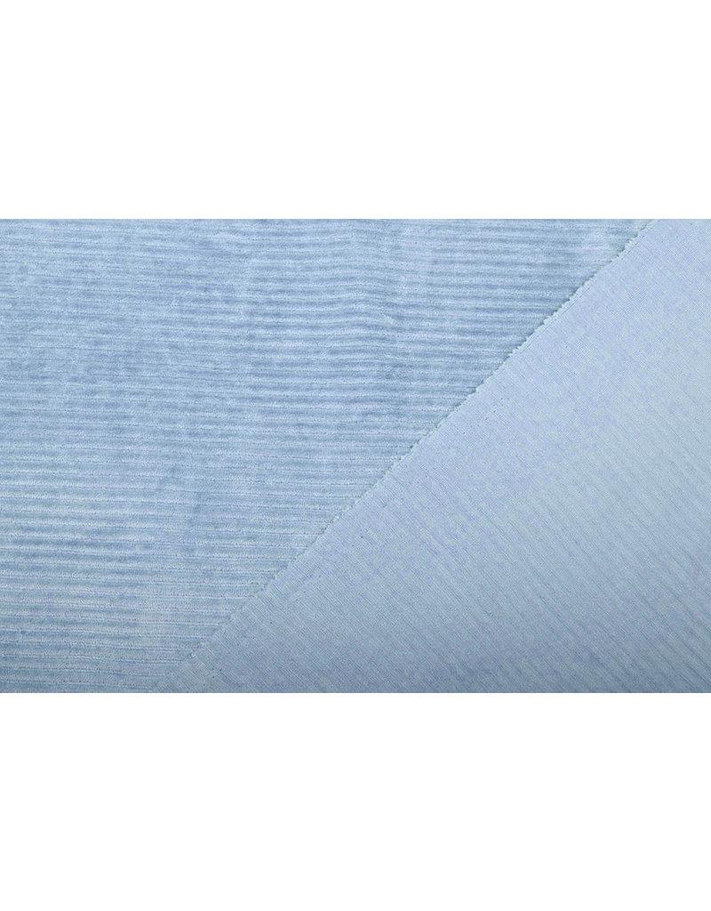 Baumwolle Trikot Cordstoff Breit Baby Blau